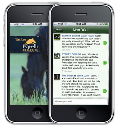 iPhone app for horse owners on Parelli Connect